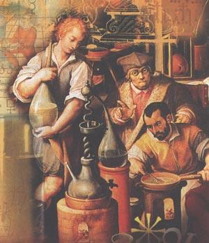 Алхіміки за роботою