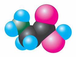 Модель молекули амінооцтової кислоти