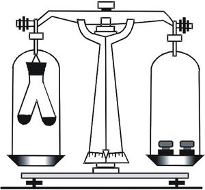 Ілюстрування збереження маси під час перебігу хімічної реакції.