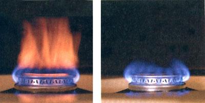 Несправна й справна газова конфорки.