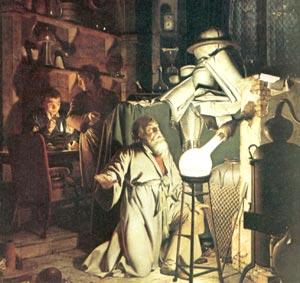 Відкриття білого фосфору алхіміком Брандтом