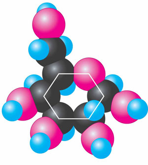 Модель молекули глюкози