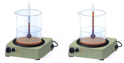 Рис. 14. Розчинність газів у воді, нагрітій більше за 50ºС зменшиться через утворення бульбашок.