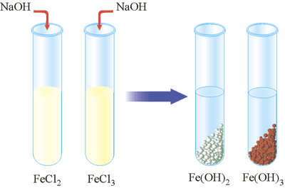Взаємодія ферум(ІІІ) хлориду та ферум(ІІ) сульфату з розчином лугу