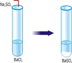 Реакція йонного обміну з утворенням осаду BaSO4.