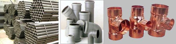 Труби виготовлені з різних матеріалів